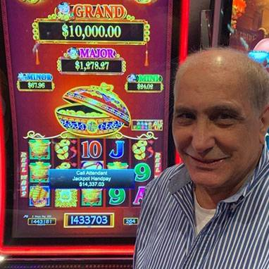 Slot winner, Hamada won $14,337.03 at Mardi Gras Casino & Resort